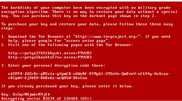 Petya Encrypting Disk modified