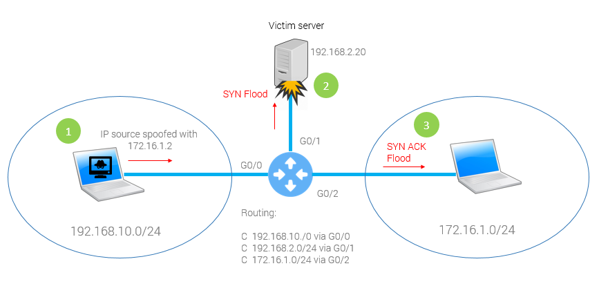 grandmetric.com Syn Flood IP Spoofing DoS uRPF
