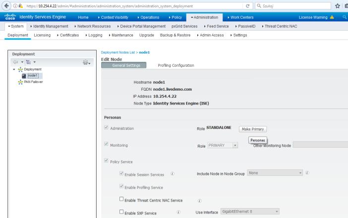 Cisco ISE node register