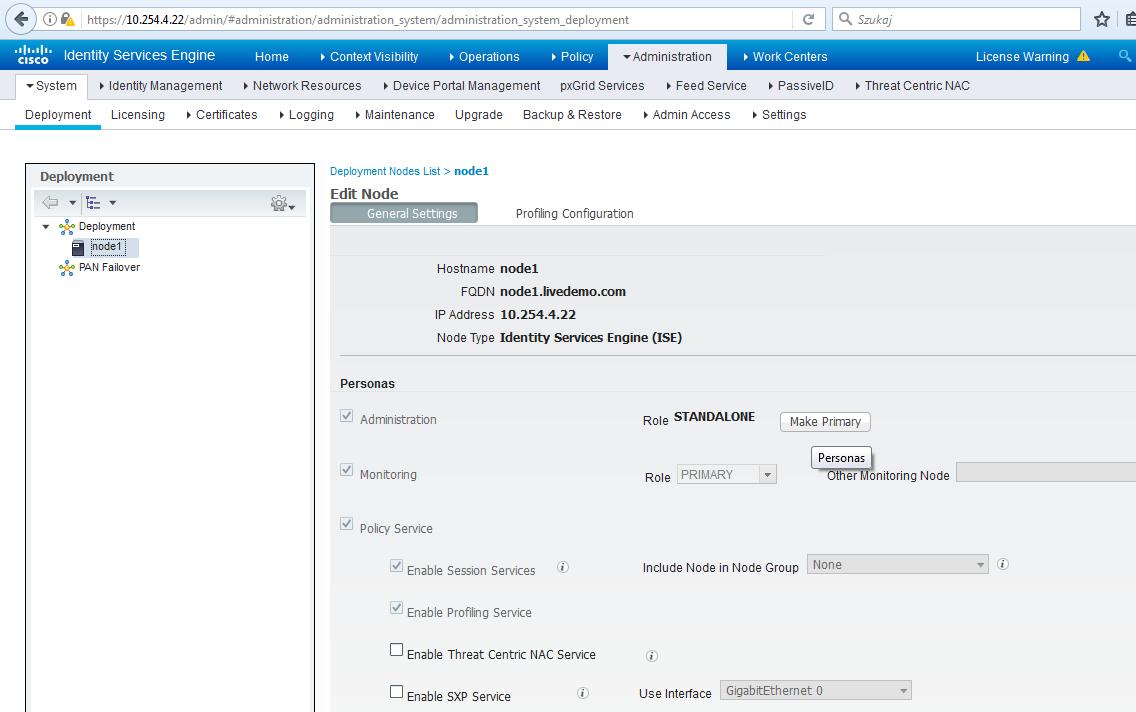 Cisco ISE: 3  Adding ISE to deployment - Grandmetric