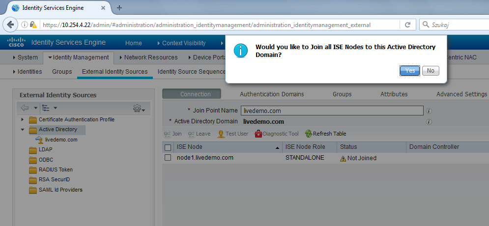 ISE Deployment and AD