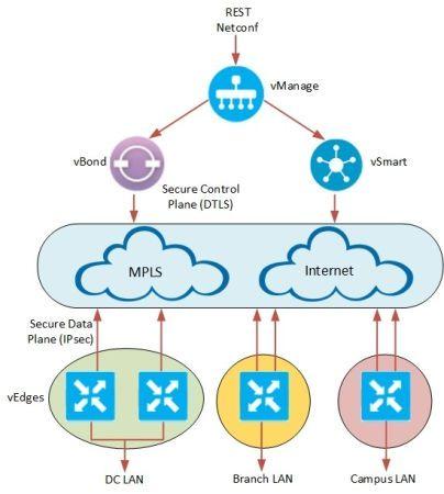 Cisco Viptela architecture
