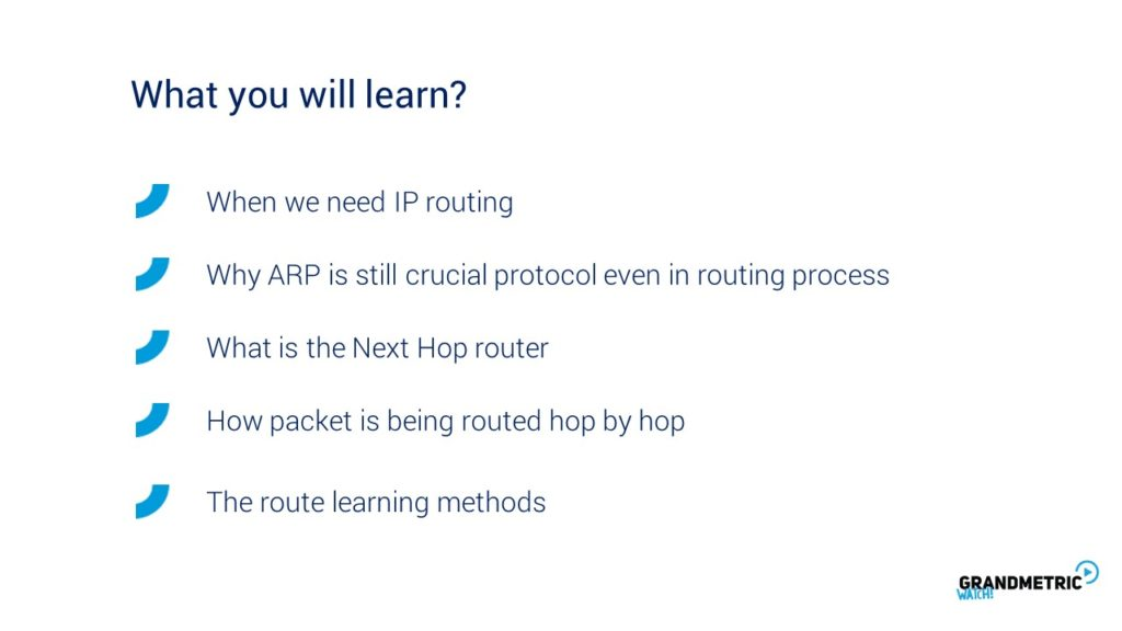 Routing Concept What Will You Learn