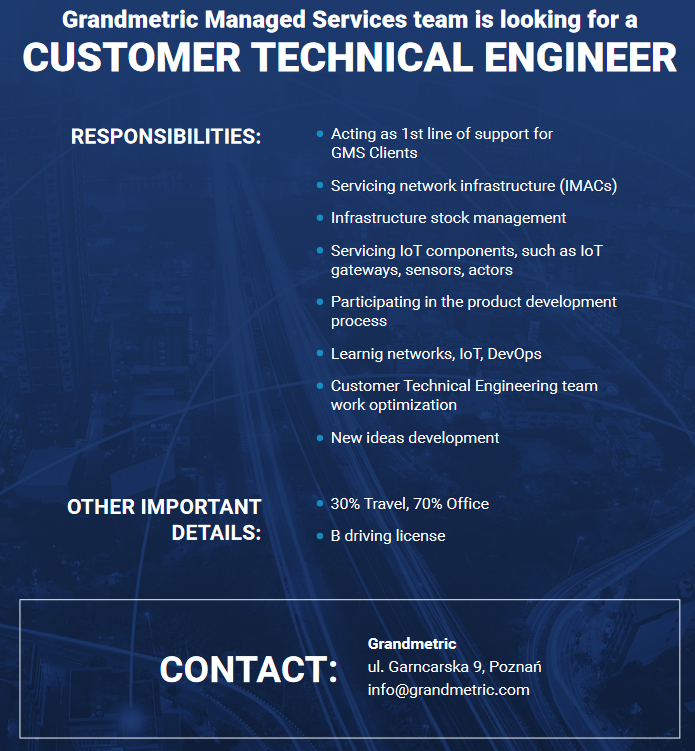 Grandmetric Customer Engineer