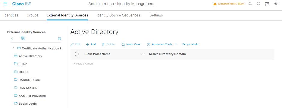 Cisco ISE Identity Management